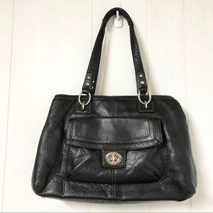Coach Black Pebble Leather Purse w Front Pocket